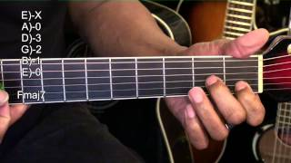 How To Play Guitar Chord Shapes Tutorial #256 TABS Lesson Breathe Me Sia EricBlackmonMusicHD