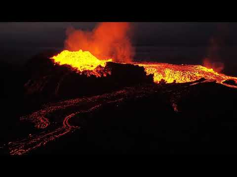 [[ MUST SEE ]]  HUGE VOLCANIC ERUPTION OVERFLOWS THE ENTIRE CRATER! HD drone captures it all!