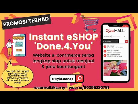 DONE4YOU Instant eShop Promo   E-Commerce Mampu Milik   Affordable Online Store for Your Business