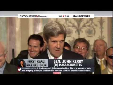 "John Kerry has a little fun with John McCain's ""Mr. Secretary"" joke"