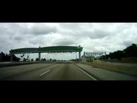 Driving from the Everglades to Boca Raton, Florida