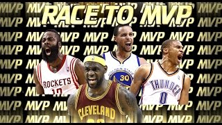 NBA - Race to MVP: Curry, Harden, Westbrook, LeBron