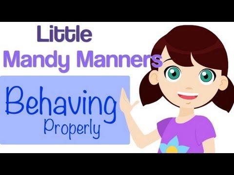 Behaving Properly | Little Mandy Manners | TinyGrads | Children's Videos | Character Songs