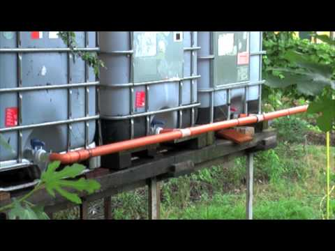Rainwater Recovery Manual Irrigation System With Recovery Tanks