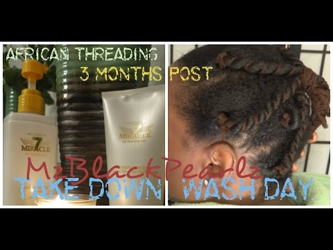African Threading 3 Months Post Wash Day