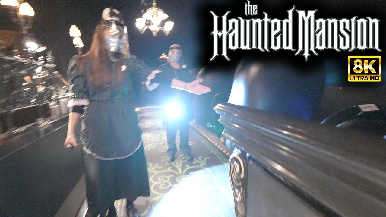 [8K] Haunted Mansion Full Ride POV (2021 Update) Disneyland Refurbishment & Queue