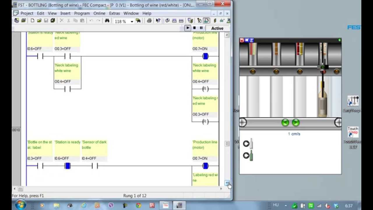 Plc programming bottling wine easyveep youtube ccuart Gallery