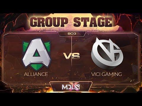 Alliance vs Vici Gaming vod