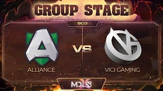 Alliance vs Vici Gaming Game 2 - MDL Chengdu Major: Group Stage