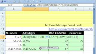 Excel Magic Trick 305: SUM digits from string