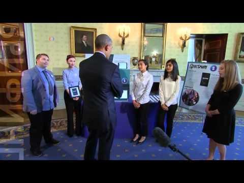 Барак Обама оценил детские изобретения – от принтера 3D печати до экологически чистого клея