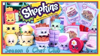 SHOPKINS Chef Club Season 6 12 PACK - 2 Surprise Shopkins and Recipes!