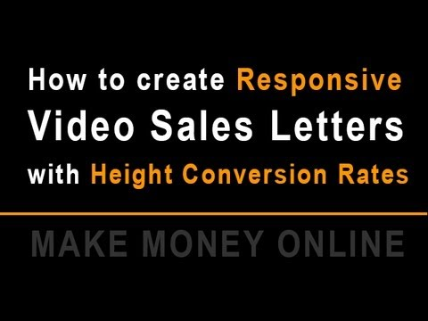Video Marketing - How to Create responsive High Converting Video Sales Letter