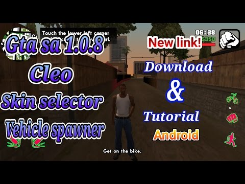 Gta sa + cleo + skin selector + vehicle spawner android new download link