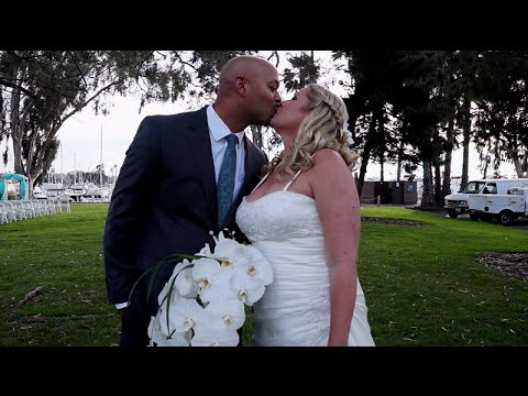 Marina Village Bayview Room Wedding Highlight Film by Affordable Videographer San Diego