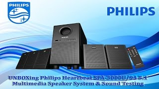 UNBOXing Philips HeartBeat SPA-3000U/94 5.1 Speaker & Sound Testing