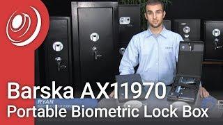 Barska Ax11970 Portable Biometric Compact Lock Box
