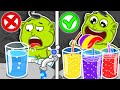 Lion Family 💅 Journey to the Center of the Earth #50. Rainbow Soda Water Set | Cartoon for Kids