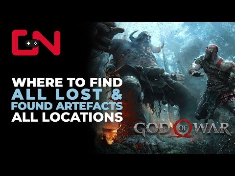 God of War Lost & Found Artefacts Collectible Toy Locations