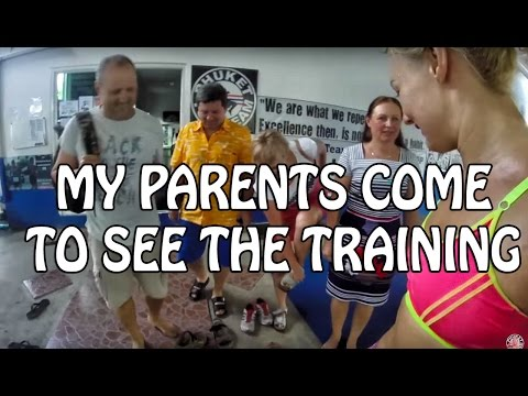My parents came to see my training & Russian Karaoke ❤ Katya's Vlog