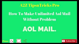 How To Make Unlimited Virtual USA Number Verified AOL Mail and all Problem  Solve