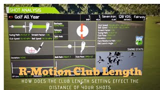 R Motion Club Length Settings - How does it effect distance?
