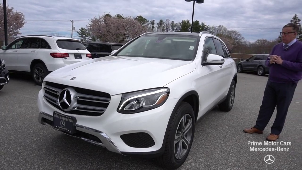 2019 Mercedes-Benz white GLC300 4MATIC SUV video tour with ...