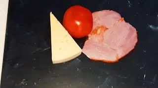 БЫСТРЫЙ ВКУСНЫЙ ЗВТРАК из помидор за 5 минут жареные помидоры с сыром и ветчиной