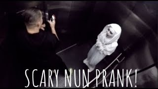Demon Nun Elevator Scare Prank! (MUST WATCH)