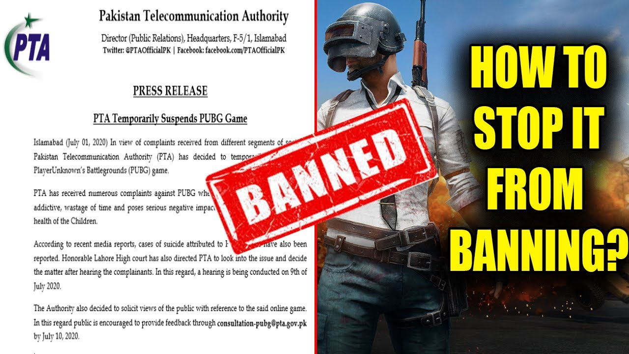 PUBG Mobile Temporary Ban in Pakistan - Do this To Stop PUBG From Banning Permanent in Pakistan