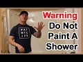 DO NOT PAINT a shower.5 reasons to not paint tile, showers or sinks.