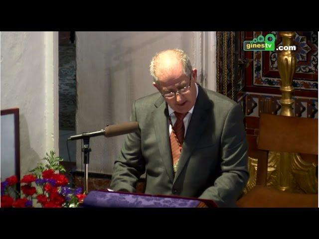 Alfonso Melo pronunció una emotiva y profunda Exaltación de la Semana Santa de Gines