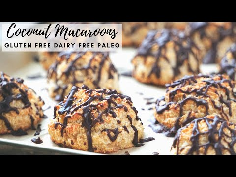 Healthy Coconut Macaroons (gluten Free, Dairy Free, Paleo, Refined Sugar Free)