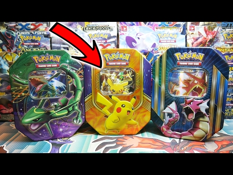 OPENING 3X EPIC CUSTOMLY MADE POKEMON EX TINS!!! VS Brodie-Amity TCG