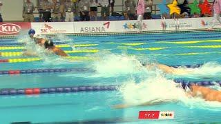 SWIMMING Men's 50m Backstroke Final - 28th Summer Universiade 2015 Gwangju (KOR)