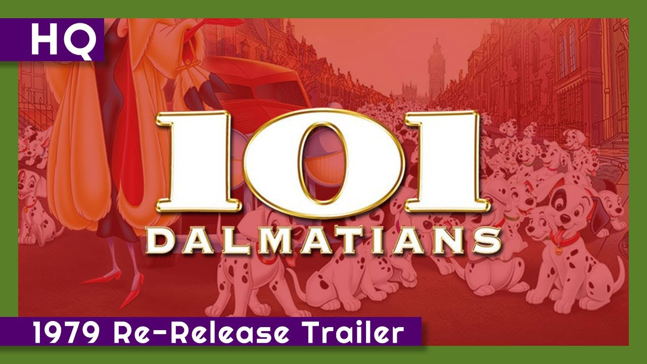 101 Dalmatians (1961) 1979 Re-Release Trailer