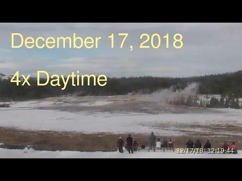 December 17, 2018 Upper Geyser Basin Daytime 4x Streaming Camera Captures