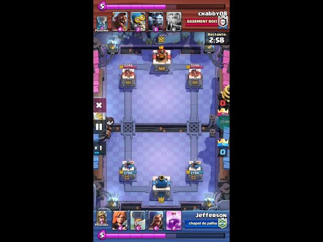Clash Royale arena 11 contra level 12 kkkkk