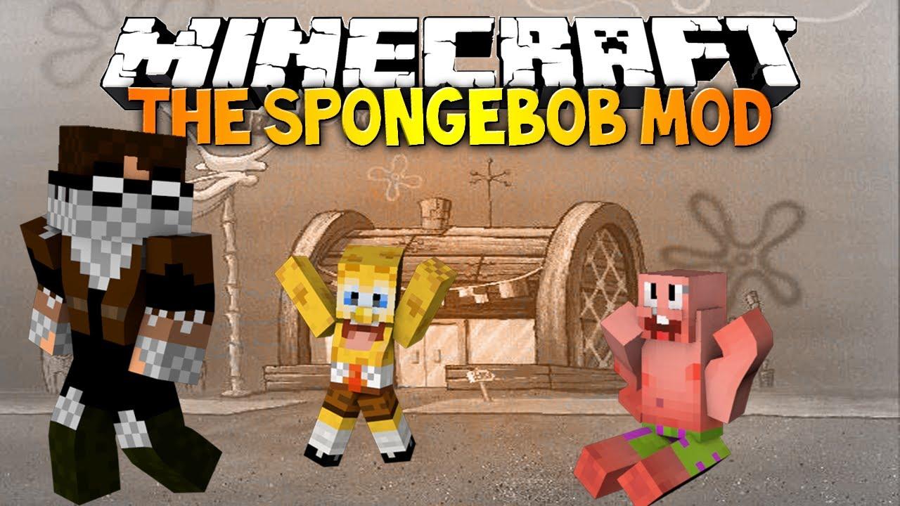 Minecraft  The Spongebob Mod  - Spongebob  Squidward  Mr  Krabs  U0026 More