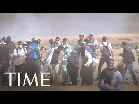 Palestinians In Gaza Are Protesting Near The Border With Israel Again | TIME