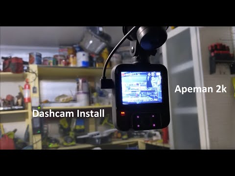 Dash Cam Installation and Review | APEMAN Dual Dash Cam, 2K Front and 1080P Inside | How to DIY
