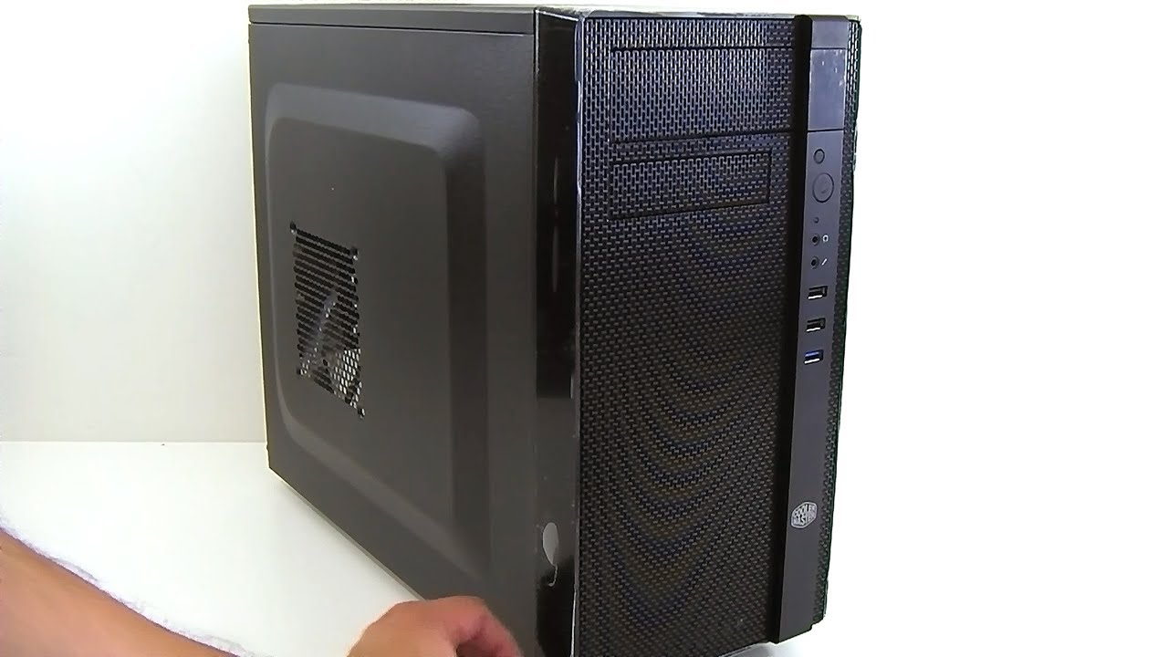 Cooler Master N200 Micro ATX Mini Tower Computer Case with Front 240mm Radiato