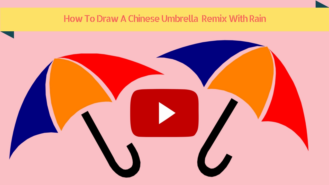 how to draw a umberella