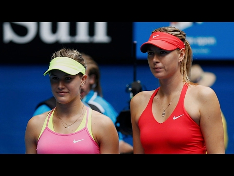 Sharapova 'a cheater' and should not play tennis again, says Bouchard – video
