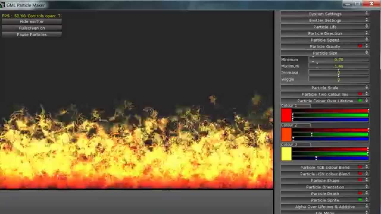 GML Particle Maker for Game maker studio - YouTube