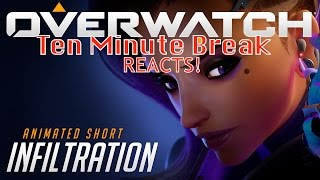 """Overwatch Animated Short: """"Infiltration"""" MLG PLAYER REACTION TO SOMBRA BIG FAN!"""