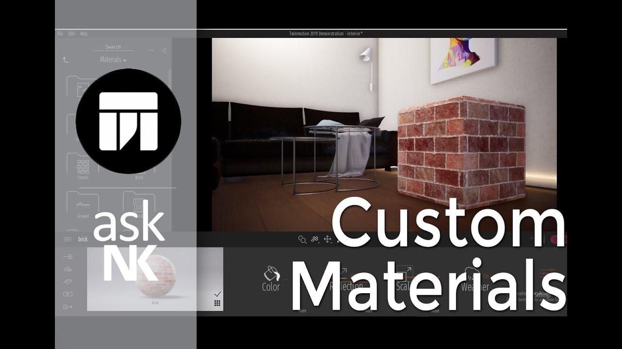 TwinMotion 2019 - Creating Custom Materials