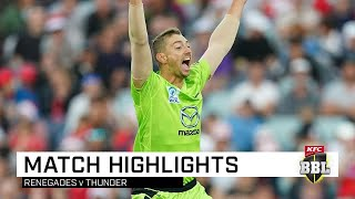 Red-hot Thunder topple BBL defending champions | KFC BBL|09