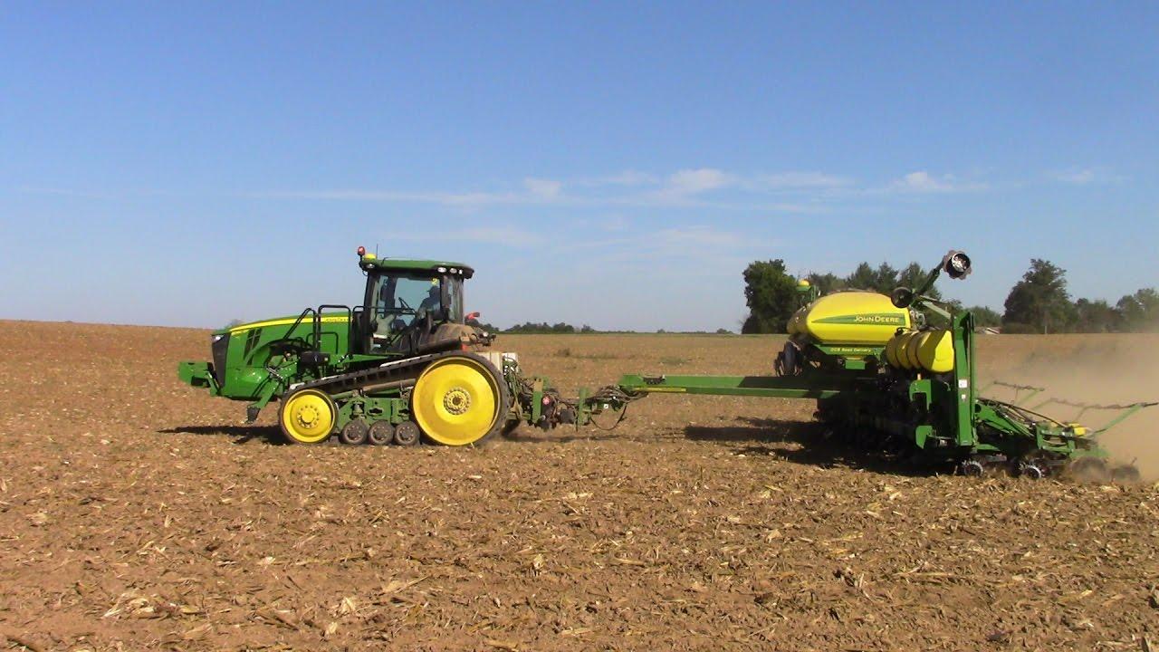 John Deere 1795 Corn Planter Seeding Canola Youtube