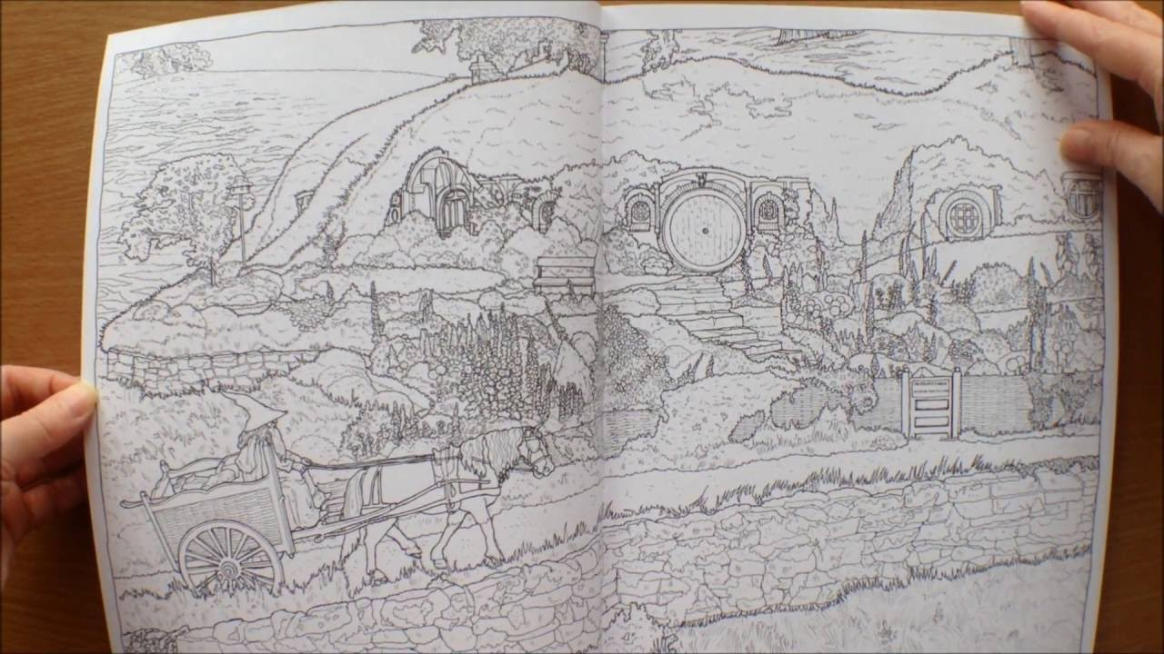 Adult Colouring Books Lord Of The Rings